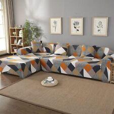Geometric Modern Sofa Cover Set Living Room Couch Elastic Corner Chaise Longue