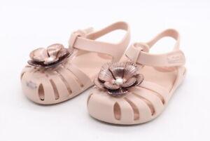 Zaxy Nina Light Pink Metallic Flower Baby Sandal Toddler Size 7