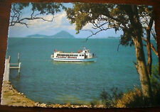 PORT STEPHENS NSW - TAMBOI QUEEN CRUISES BOAT VINTAGE 1980s POSTCARD  Australia