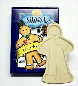 Vtg Giant Gingerbread Man Cookie Mold Brown Bag Cookie Art Craft Mold 1997 w/box