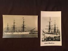 HMS BOADICEA REAL PHOTO POSTCARDS SAILED BY ROBERT SCOTT 1875 - 1900 - LOT 66