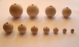 Holzkugeln Rohholzkugeln Kugeln gebohrt - in 11 Größen erhältlich