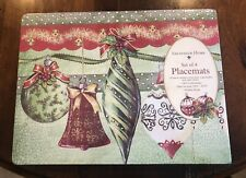 Set Of 4 Sheffield Home Gregory Gorham Christmas Holiday Cork Backed Placemats