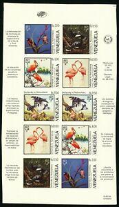 VENEZUELA #1416 Proof SPECIMEN Sheetlet Latin America Stamps Postage 1988 MNH NG