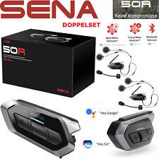 Sena auriculares 50r doppelset motocicleta Mesh 2.0 intercomunicador Bluetooth 5 HD Radio FM