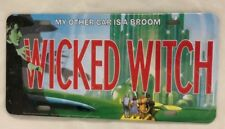 """Metal 6X12"""" Humor Sign - WIZARD OF OZ - My Other Car is a Broom WICKED WITCH"""