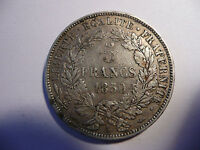 5 francs 1850 A Cérès argent French currency coin  TTB+