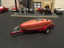 1:64 Hot Wheels Limited Edition Crackerbox Race Boat with Trailer