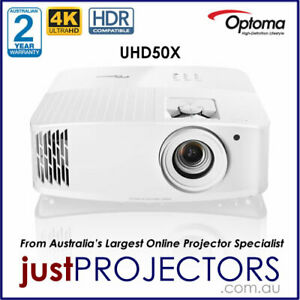 Optoma UHD50X 4K Home Theatre Projector from Just Projectors. 2yr Warranty