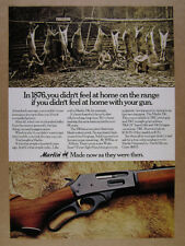 1974 Marlin 336 336C Rifle deer camp hunters photo vintage print Ad