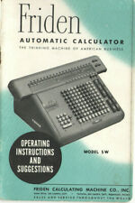 VINTAGE FRIDEN AUTOMATIC CALCULATOR MODEL SW OPERATING INSTRUCTIONS! USER MANUAL