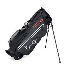 New Signature Golf Bag - Ultralight Waterproof Black/White/Red Stand Bag
