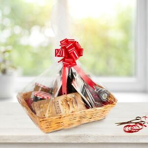 Wickerfield DIY Wicker Gift Basket Hamper, Christening, Wedding, Birthday Gift