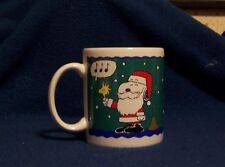 Santa Snoopy Woodstock Coffee Mug Bell Ringer Christmas Cup Willitts Peanuts