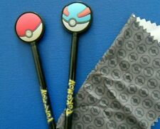 2 Nintendo Pokemon Pokeball Stylus & Cleaning Cloth - DS/2DS/3DS