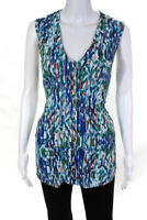 BCBG Max Azria Womens Striped Tank Top Multi Colored Size Extra Large