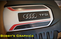 AUDI S3 ENGINE & FUSE COVER Vinyl Graphic in 8D Carbon Gloss