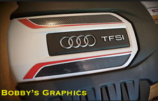 Audi S3 Moteur & Boîte à fusibles Housse Qualité Vinyle Graphique Autocollant
