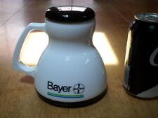 BAYER Pharmaceuticals Company, Jumbo Sized, PLASTIC Coffee Cup / Mug w Lid Cover