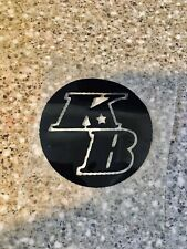 "KB Kobe Bryant Heat Transfer  Decal For Jersey/Shirt  3."" BLK ⚫️ Logo"