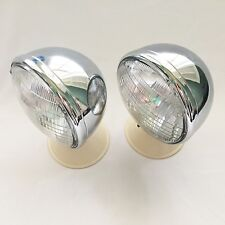 Hot Rod King Bee Headlamps Headlights with Curved Lenses- 1 PR