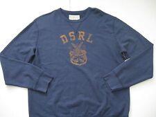 DENIM & SUPPLY RALPH LAUREN Men's Faded Navy DSRL French Terry Sweatshirt L