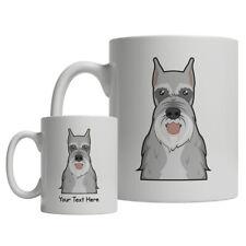 Schnauzer Cartoon Mug - Personalized Text Coffee Tea Cup standard