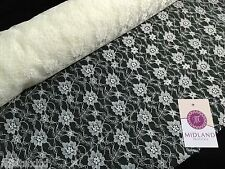"Budget Floral Lace Fabric (Per Metre) Midtex  45"" Wide M184"