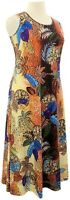 Attitudes by Renee PL Beige Printed Stretch Knit Sleeveless Maxi Dress