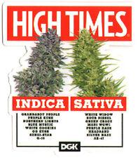 DGK x High Times - Options Skateboard Sticker - cannabis ganja weed marijuana