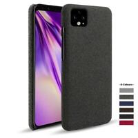 For Google pixel 4a case 5G Cloth texture Woven Cover Antiskid Febric Fundas for