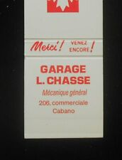 1980s? Petro Canada Garage L. Chasse 206 Commerciale Cabano QC Canada Matchbook
