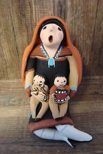 Jemez Pueblo Indien à la Main Clay Storyteller Par J.
