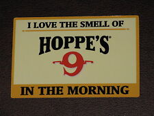 """Hoppe's """"I Love The Smell Of"""" Firearms Vinyl Decal Sticker Gun Bore Rifle NEW"""