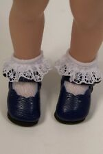 Navy Blue Dressy Doll Shoes For Helen Kish Riley More Colors Available (Debs)