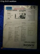 Sony Service Manual DSC S70 Level 2 Digital Still Camera (#6586)