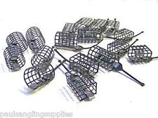 30 Assorted Cage Feeders  Square and Round for Carp Groundbait etc