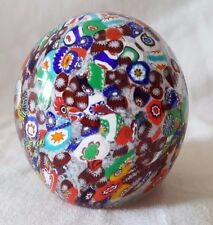 Vintage Gentile Art Glass Paperweight Scrambled Millefiori Star City WV