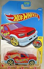 2017 Hot Wheels #242 HW Art Cars 4/10 FANDANGO Red w/Yellow Pr5 Spoke Wheels