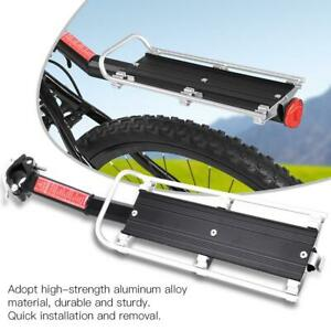 Mountain Bike Bicycle Carrier Rack Seat Post Rear Shelf Aluminum Alloy Black
