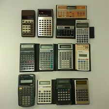 Vtg Lot Texas Instruments 30Xa Ti-31 Ti-36x Ti-34 Casio Scientific Calculators