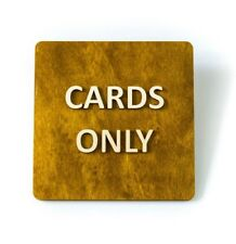 Cards Only, No Cash Accepted, Shop, Hotel, Restaurant, Bar