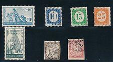 1894-1943 French Congo (7) MH & USED: B7 & 8, J16, J19, J23-5; CV $18