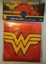 WONDER WOMAN  Cape RED w/ Yellow Satin by Rubies  Size 6+ OSFM NEW (AA2-3)