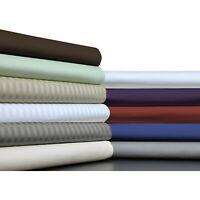 Cozy Bedding Quilt Set 5 PCs 1200TC Egyptian Cotton AU Sizes Solid/Stripe Colors