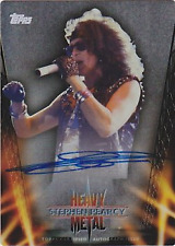 2013 Topps Archives Heavy Metal Autographs Metal #SP Stephen Pearcy Auto #16/25