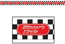 RACING CAR WINNERS CIRCLE PARTY TAPE 20FT DECORATION!