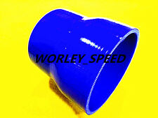"""BLUE Silicone Reducer Hose 2""""-2.5"""" 51mm-63mm Silicone Straight Intercooler Pipe"""