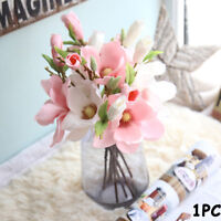 Artificial Lily Magnolia  Yulan Branch  Simulation Flowers Fake Orchid