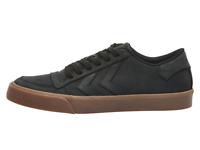 Hummel Stadil Low Trainers UK 8 EUR 42 US 9 Retro Black RMX Nubuck Gum New Skate